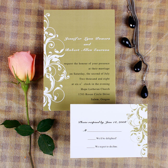 fall wedding invitations ideas color