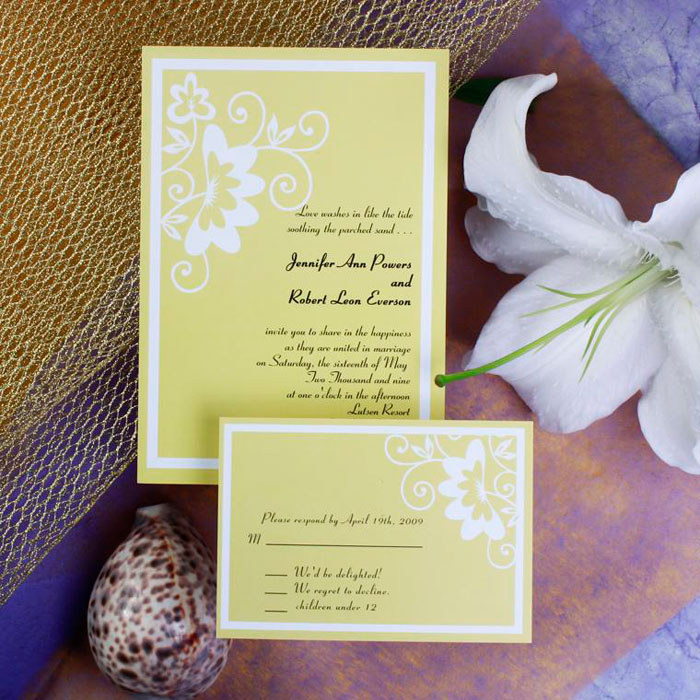 Rustic Yellow Wedding Cards Affordable