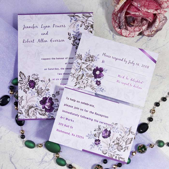 Lavender Inspired Wedding Color Ideas and Wedding Invitations – Ideas for Wedding Invitation Cards