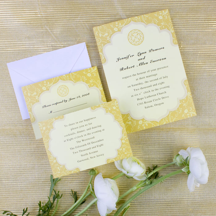 Chic vintage summer wedding yellow and turquoise vintage yellow wedding invitation cards stopboris Gallery