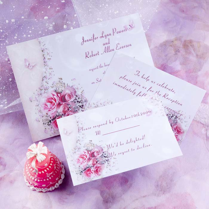 soft pink french wedding invitations
