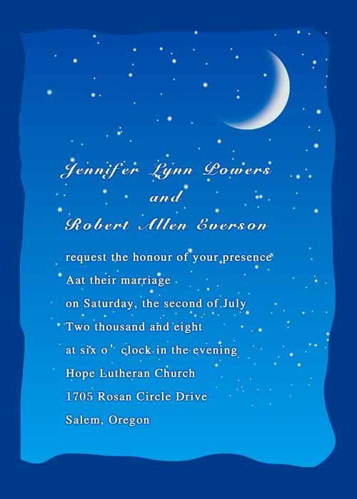Amazing Moon Stars Themed Weddings And Wedding Invitations