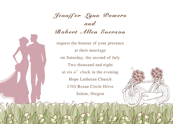 ROMANTIC PINK AND GREEN COUNTRY RUSTIC WEDDING INVITATION KITS