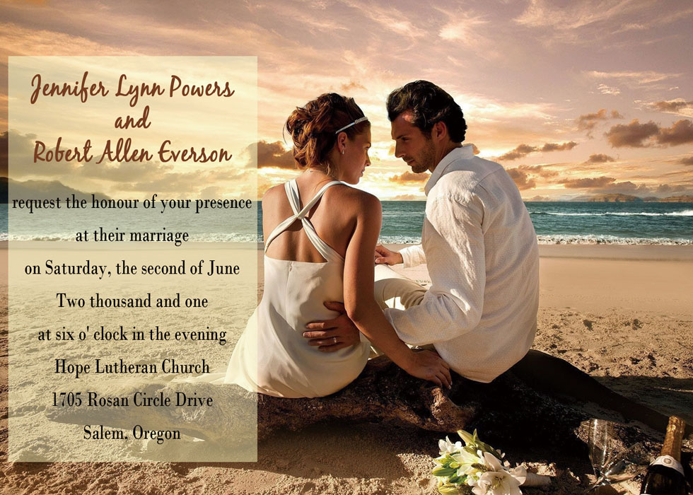 unique wedding photo invitations