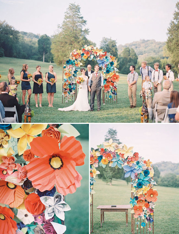 diy wedding ideas paper flower