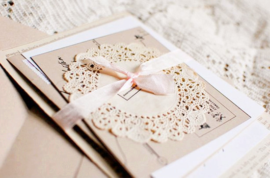 lace vintage wedding invitations