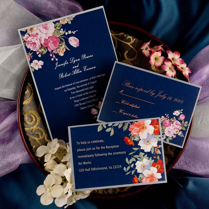 Vintage Chic Wedding Invitation
