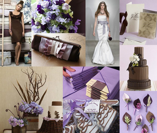 purple and brown wedding ideas