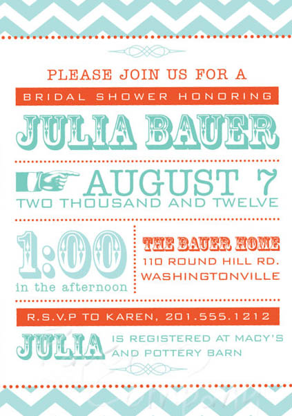 summer bridal shower invitations