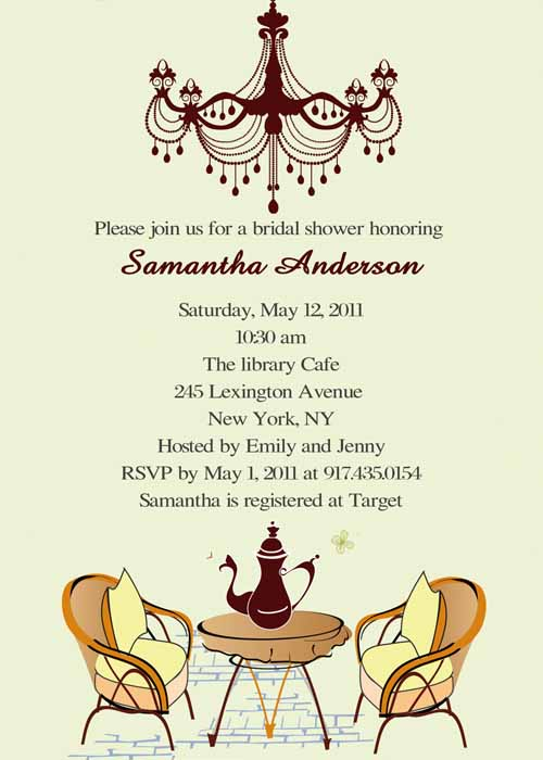 Vintage Tea Party Bridal Shower Invites