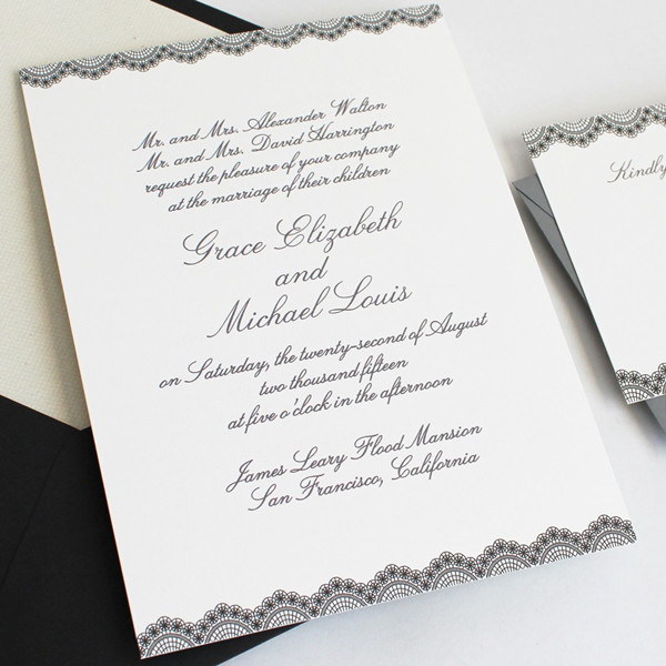 black and white wedding invitations - When To Send Out Wedding Invites