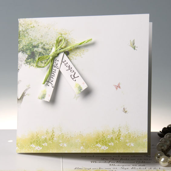 Rustic Mint Green Wedding Invitations With Free Response Cards