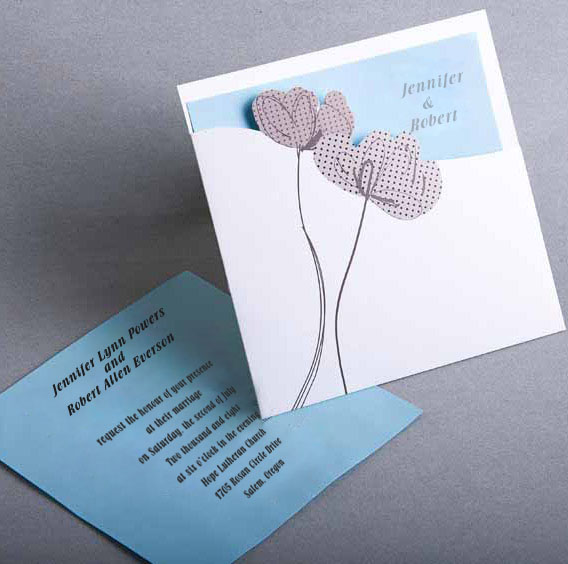 tiffany blue pocket wedding invitation kits online