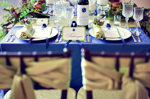 Decorations For Royal Blue Theme Wedding
