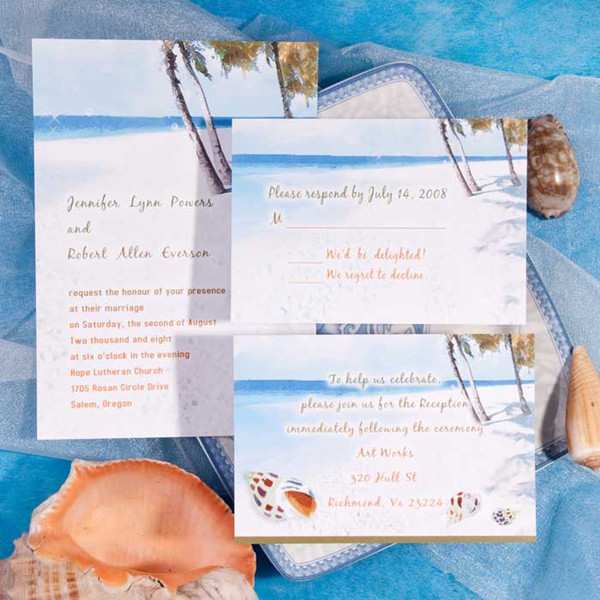 elegant beach wedding invitations koni polycode co