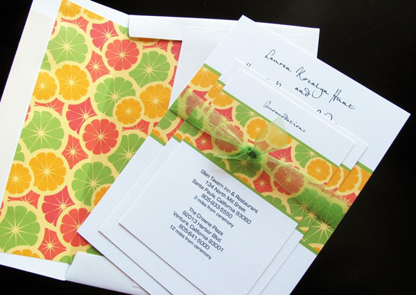 fall fruits wedding invitations
