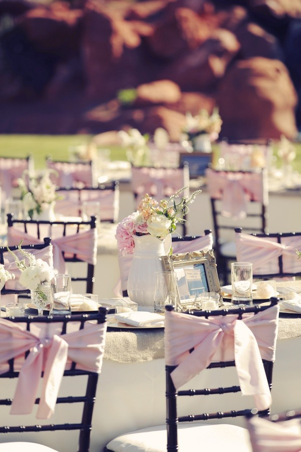 outdoor pink wedding receptions