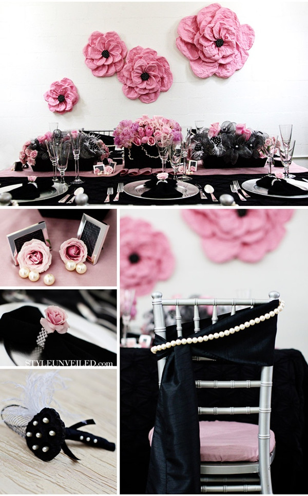 Pink And Black Wedding Inspiration