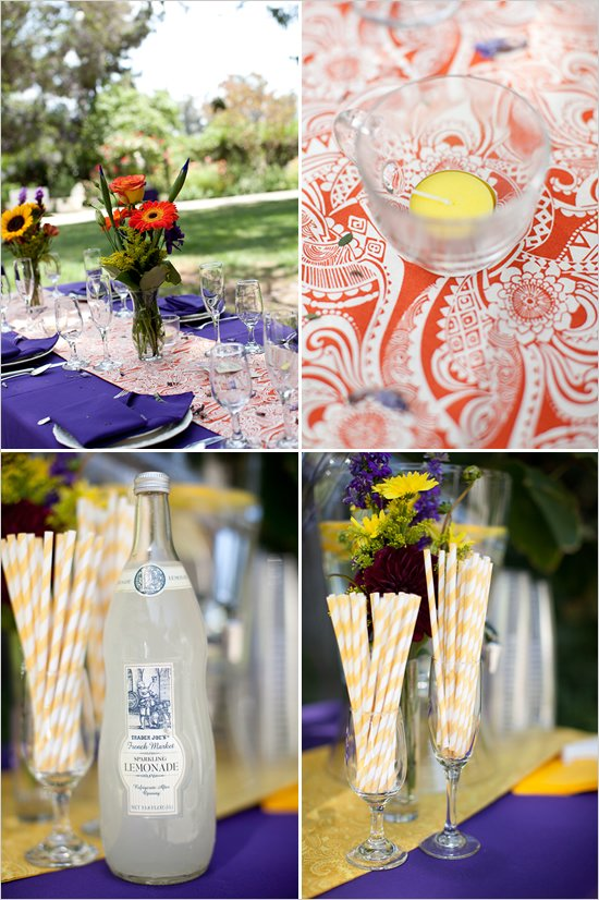 purple and orange fall wedding ideas