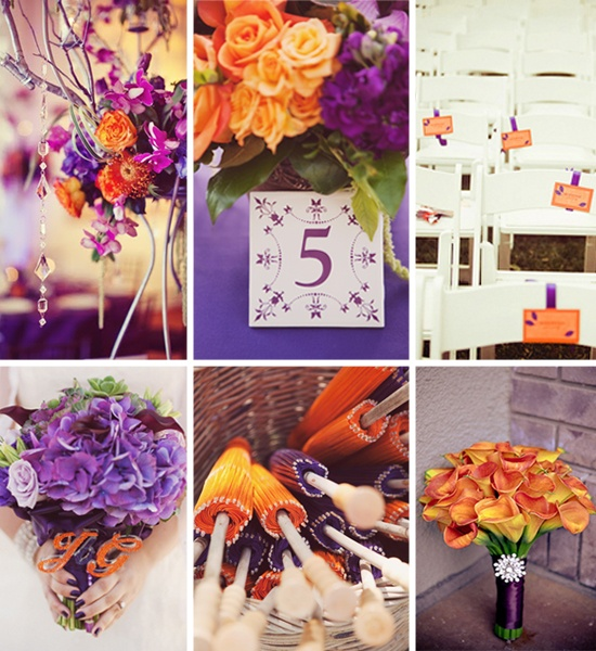 Purple And Orange Fall Wedding Inspirations