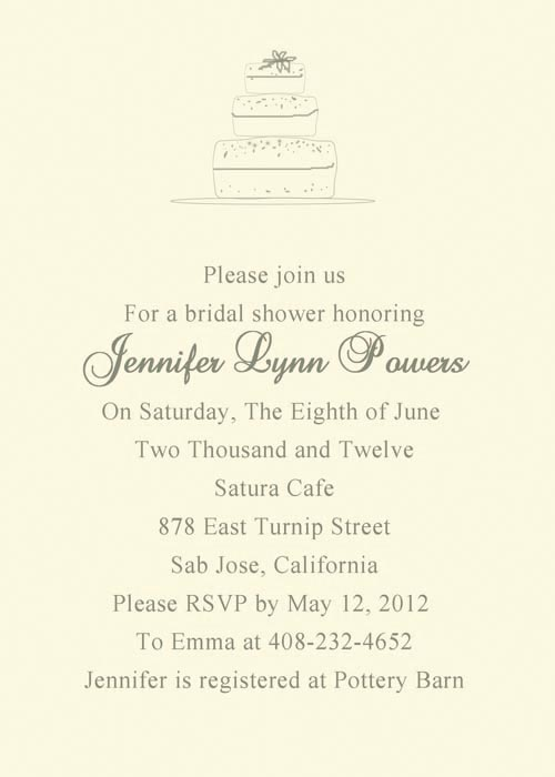 Simple Vintage Bridal Shower Invitations