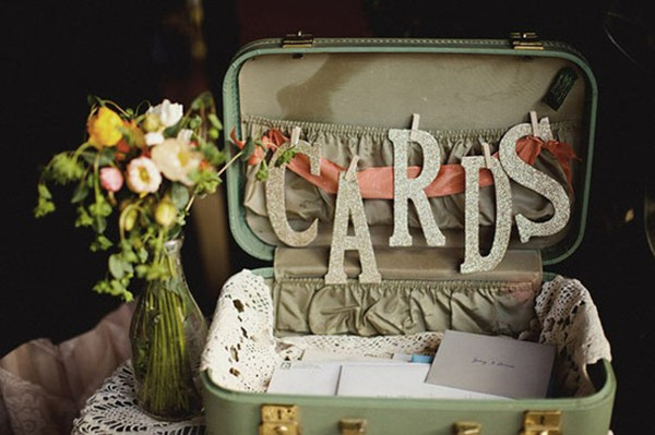 Special wednesdaytop 10 unique wedding guest book ideas suitcase wedding guest book idea junglespirit Images