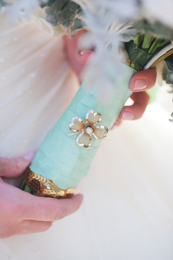 tiffany blue wedding flower bouquet