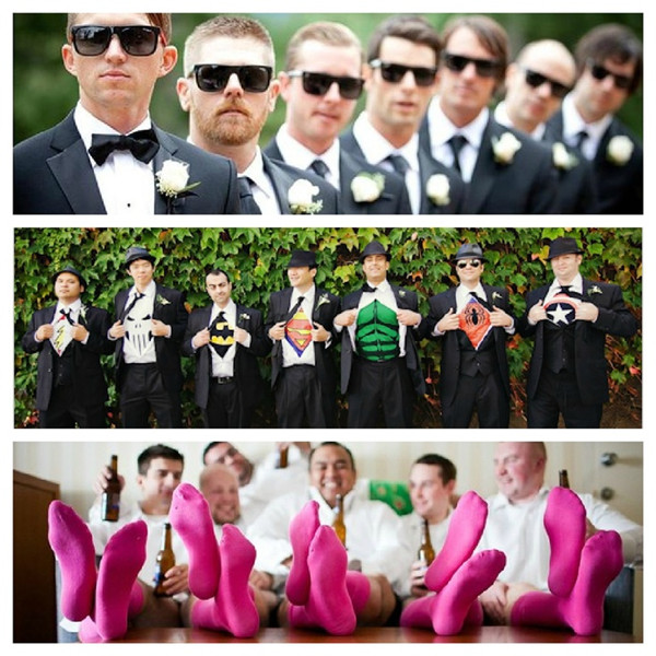 unique wedding photos groomsmen