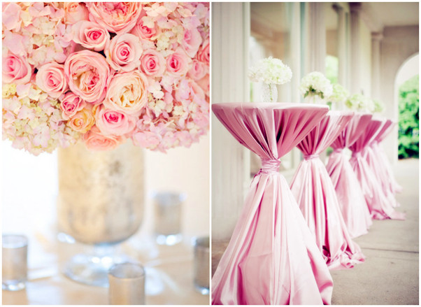 wedding decorations pink