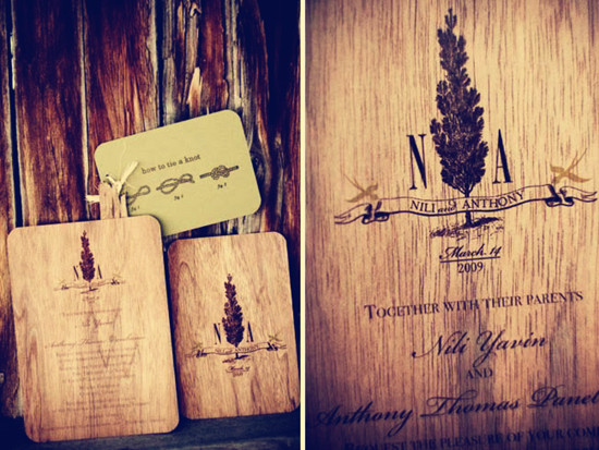 DIY Wooden Rustic Wedding Invitations
