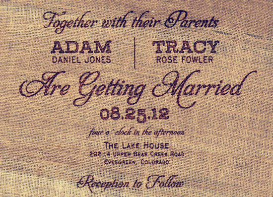 Top 6 Rustic Wedding Invitations for Shabby Chic Weddings ...