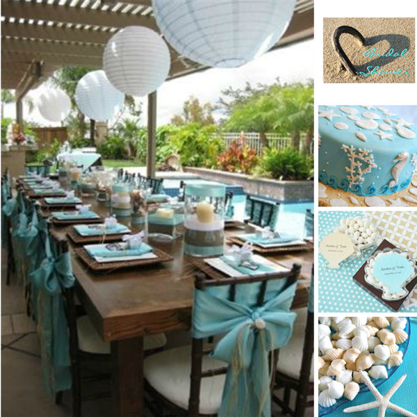 beach bridal shower party