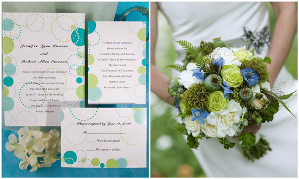 blue and green wedding inspirations