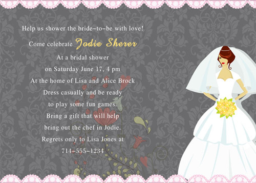 Wedding Invitation Regrets: {Special Wednesday}Bridal Shower Invitation Wording