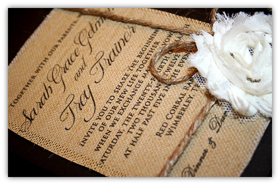 Top 10 Burlap Wedding Invitations – Elegantweddinginvites Blog