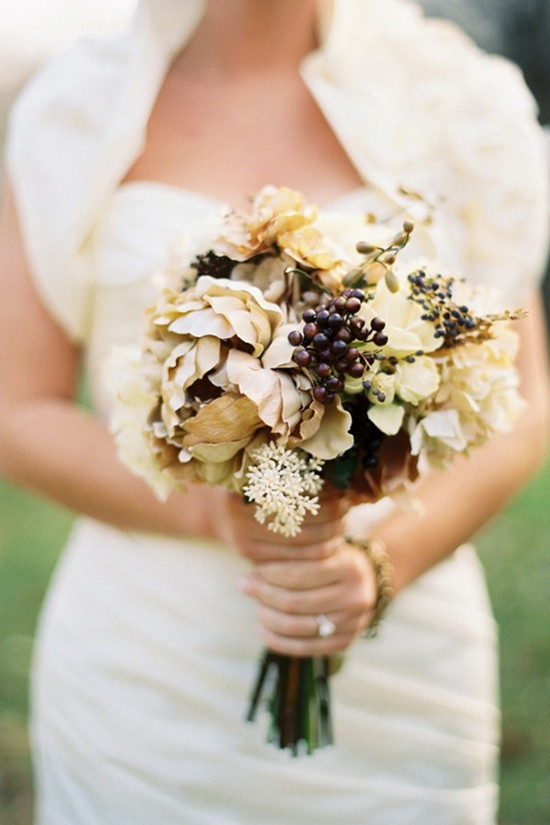 Special Wednesday} Fall Wedding Flower Ideas-Bridal Bouquet and ...