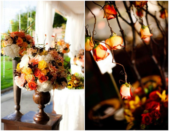 flower decorations for fall weddings