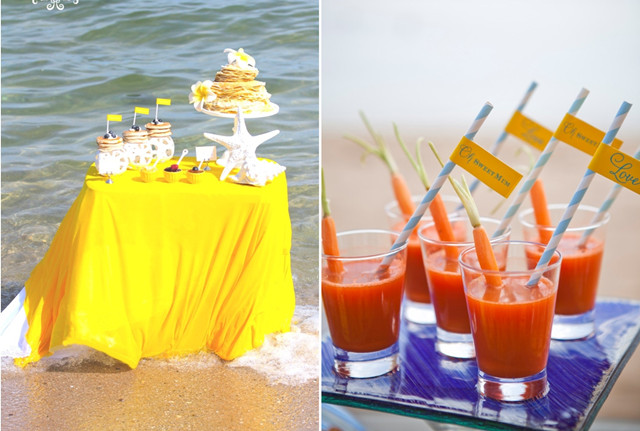 plan a beach theme bridal shower
