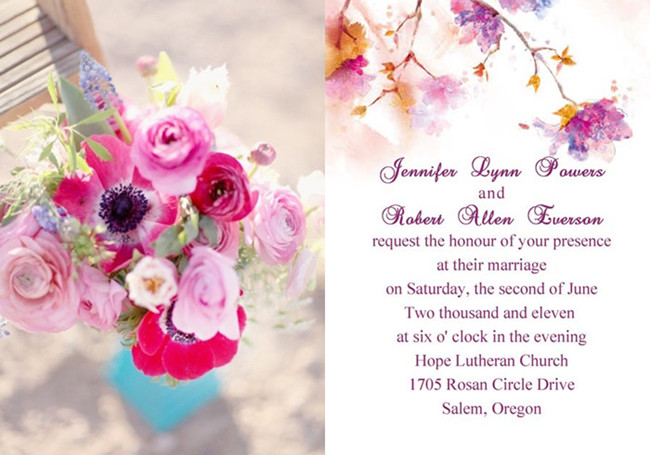 Purple and Pink Wedding Invitations and Wedding Ideas ...