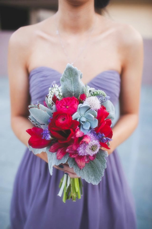 red and purple wedding 1