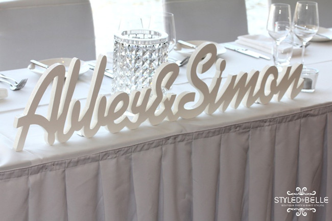 Silver And White Modern Wedding Receptions