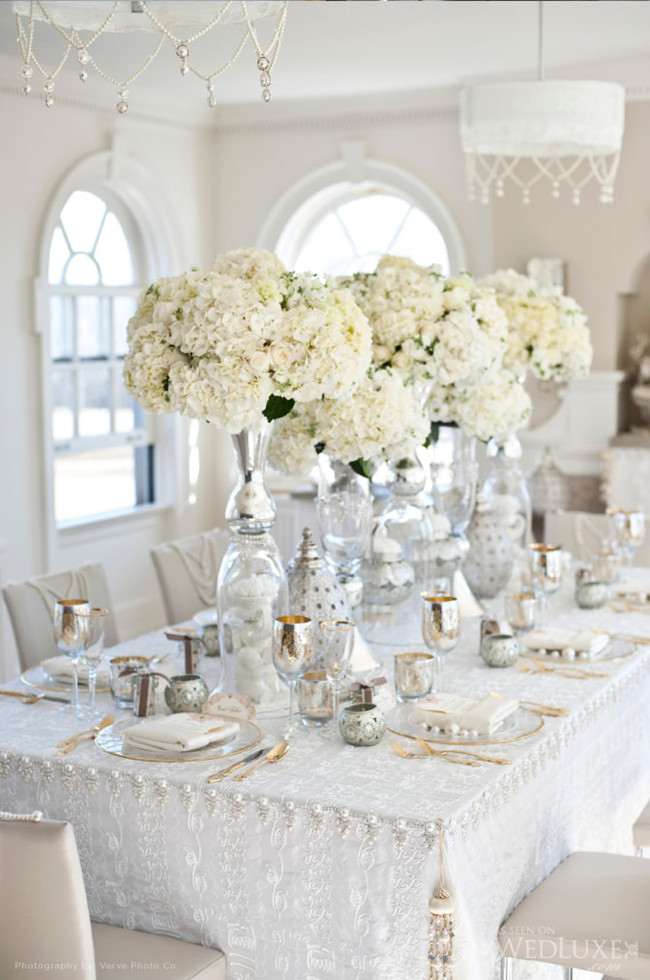 Silver And White Wedding Reception Ideas