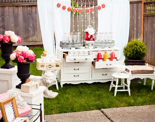 vintage bridal shower party