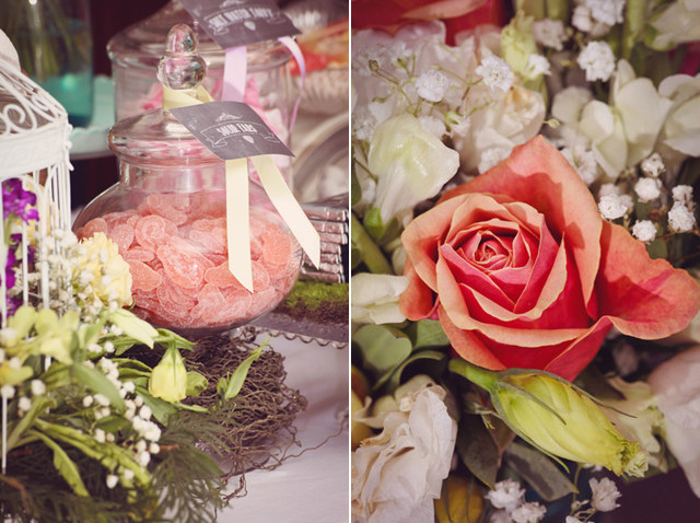 vintage french wedding flowers