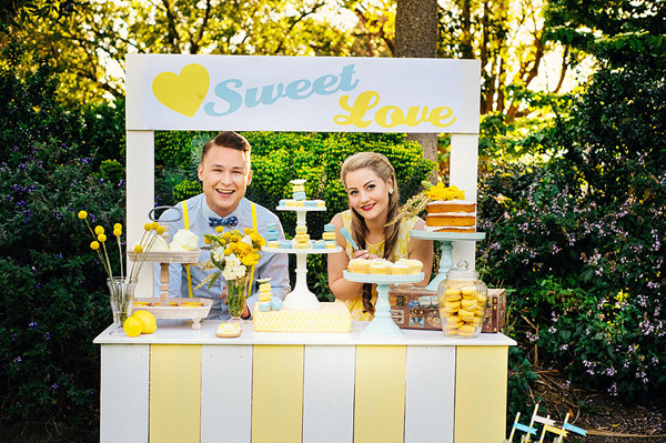 yellow and turquoise vintage wedding ideas