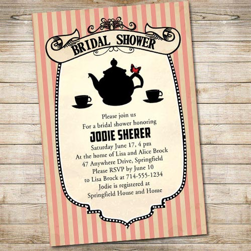 Vintage Wedding Shower Invitations