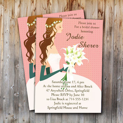 Garden Wedding Shower Invitaitons