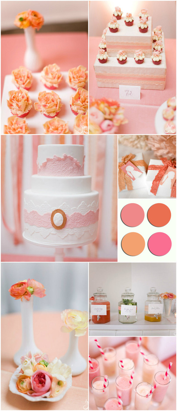 Coral and Pink Bridal Shower