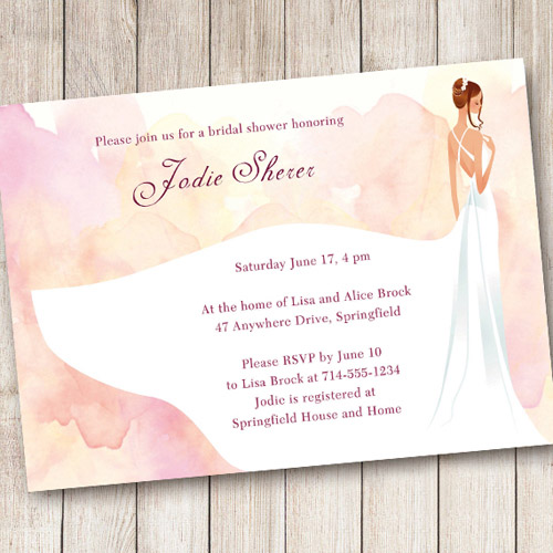 Shades of Pink Bridal Shower Invitations