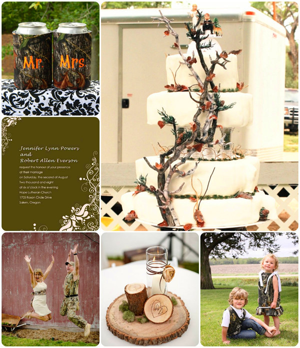 camo wedding ideas